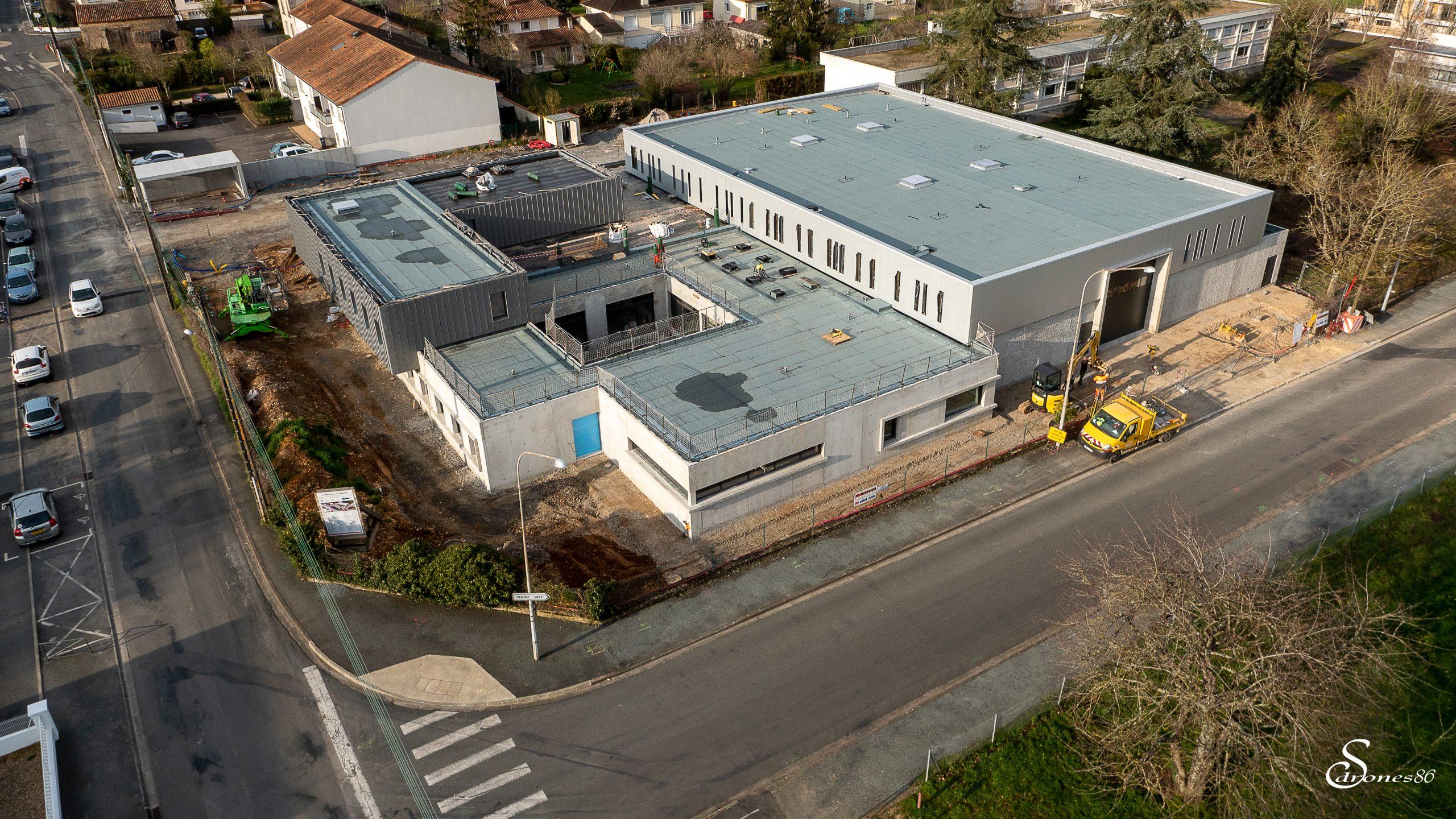 Image aérienne de chantier