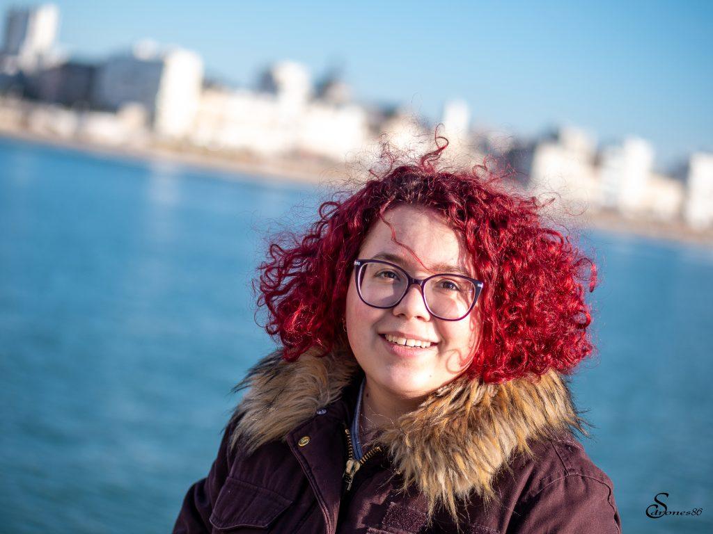 Portrait femme bord de mer